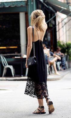 delicate black dress