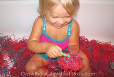 Growing A Jeweled Rose: Messy Bath Play- Alphabet Letter Hunt