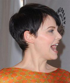 Back Of Ginnifer Goodwin Hairstyles | Ginnifer Goodwin Hairstyle - Casual Short Straight Hairstyle - 13558 ...