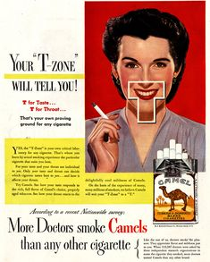 "More Doctors smoke Camels than any other cigarette."" Description from pinterest.com. I searched for this on bing.com/images"