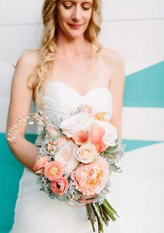 Pink bridal bouquet with calla lillies | Brides.com