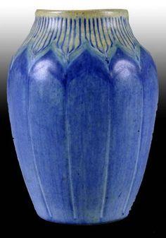 Newcomb Art Pottery Blue Vase