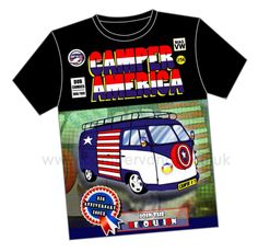 Campervan Gift - Camper America Campervan T-Shirt, £14.95 (http://www.campervangift.co.uk/camper-america-campervan-t-shirt/)