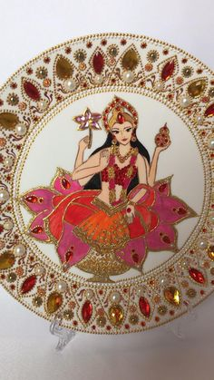 Diya Decoration Ideas, Diwali Decorations At Home, Decor Ideas, Gift Ideas, Handmade Rakhi Designs, Spiritual Decor, Mandala Painted Rocks, Pottery Painting Designs, Mandala Artwork