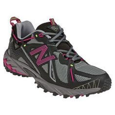 New Balance Women's WT610 Trail Running Shoe,Light Grey/Pink