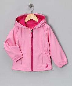 Take a look at this Pink Soft Zip-Up Hooded Jacket - Toddler & Girls by Blow-Out on #zulily today! #fall