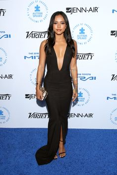 Karrueche Tran attends the Autism Speaks Celebrity Chef Gala at The Barker Hanger on Oct. 8, 2015, in Santa Monica, California. - Cosmopolitan.com