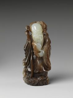 God of longevity Period: Qing dynasty (1644–1911) Date: 18th century Culture: China Medium: Jade (nephrite)