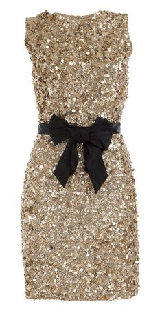 too bad the dance is a black or white themed dance. if I wore this I would just point to the bow belt! lol