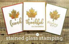 Stained Glass Stamping Video by Jennifer McGuire Ink using Gina K Design stamps; Sept 2017 #jennifermcquire #ginakdesigns