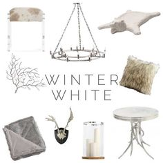 As we are enjoying our time around the fireplace and are hunkering down for a long winters night what a great time to dress up our own log cabin's with some winter wonderland. White isn't just for summer time anymore./