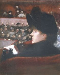 Jean-Louis Forain, La Loge, c.1880 Renoir, Caricatures, Monet, Musee Carnavalet, Fine Art Prints, Canvas Prints, Canvas Paper, Modern Artists, Theater