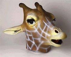 Giraffe Deluxe Latex Mask - 324678 | trendyhalloween.com #halloween #masks #giraffe