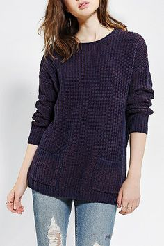 Coincidence & Chance Shaker-Stitch Pocket Sweater