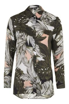 Oversized Palm Print Shirt - New In This Week - New In - Topshop
