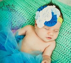 Headband Blues and White Cluster Baby Headbands    Sale! Price: $8.99 On Sale: $6.49 You save: $2.50! (27.81%)