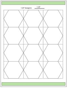 2 inch parallelagram english paper piecing free printable for Hexagon templates for quilting free