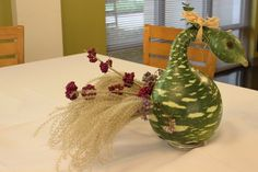 Check out our gourd turkey centerpiece, made by clients in our Horticulture Therapy Class