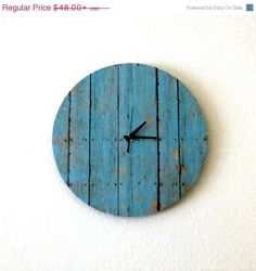 Mothers Day Sale Cottage Chic Clock, Decor and Housewares, Housewarming Gift, Home and Living, Shabby Chic, Home Decor, Unique Gift Idea