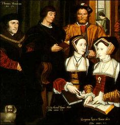 Holbein - More family portrait. Gowns with visible  front lacing - without pinned stomacher. Women wore dresses without stomacher for more comfort, especially in pregnancy.