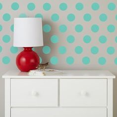 Lottie Dots Decal Set (Aqua) in Wall Decals | The Land of Nod