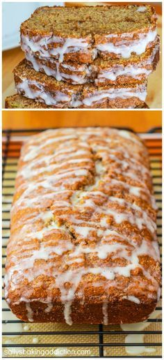 Easy Cinnamon Swirl Banana Bread - a recipe for all of you who love banana bread and warm, gooey cinnamon rolls!