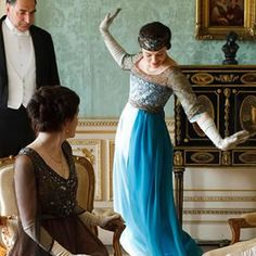 downton abbey.  they have wonderful british accents and amazing dresses.  color me jealous.