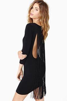 Black Fringe Dress. WANT!!!