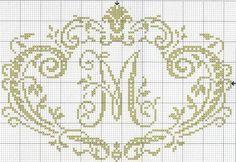 Monograma elegante Letra M