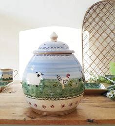 Our handcrafted Landscape Assorted Cookie Jar would look beautiful in any home Irish Pottery, Pottery Gifts, Cookie Jars, San Jose, Cookies, Landscape, Stuff To Buy, Beautiful, Design
