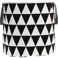 Ferm Living Triangle Korb - schwarz/weiß/Ø35cm