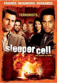"Sleeper Cell (2005 Fox) tv series • slogan ""The Enemy is Here"" • stars: Michael Ealy (2013-11 series Almost Human) + Oded Fehr (Israeli spy in Covert Affairs) • creators: Ethan Reiff, Cyrus Voris"