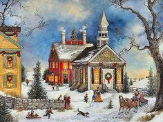 Old-fashioned Christmas in the Village