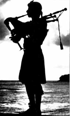 Silhouette Piper by the Sea