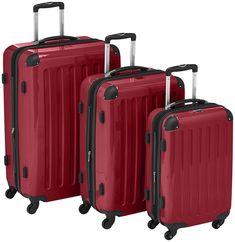 Hard Shell Suitcase Set 4 Spinner Wheels Large Trolley Lock Polycarbonate 3 Size #HardShellSuitcaseSet