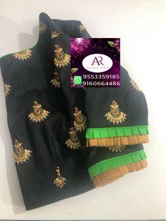 Cutwork Blouse Designs, New Blouse Designs, Saree Blouse Designs, Blouse Styles, Sleeves Designs For Dresses, Sleeve Designs, Saree Tassels, Designer Blouse Patterns, Cotton Blouses