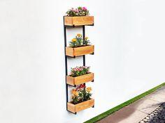 Jardín vertical - Macetero colgante de diseño en hierro y madera