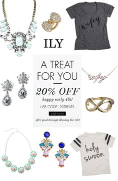 ends today! enjoy 20% off of everything at @ilycouture when you use the code: 20TREATS at checkout. Click through for details. http://www.theperfectpaletteshop.com/#!bridal-jewelry/crma