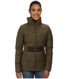 THE NORTH FACE THE NORTH FACE - BELTED MERA PEAK JACKET (FOREST NIGHT GREEN) WOMEN'S COAT. #thenorthface #cloth #