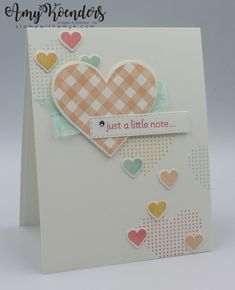 Valentines Day Cards Handmade, Stamping Up Cards, Some Cards, Paper Hearts, Heart Cards, Diy Cards, Homemade Cards, Mini, Card Making