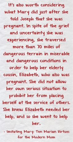 Advent with Mary: Mary's Selflessness | CatholicMom.com