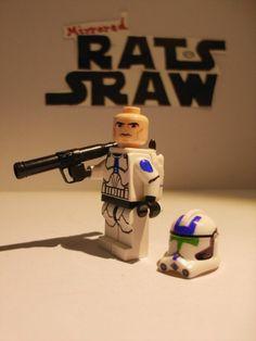Lego Star Wars minifigures - Clone Custom Jet Trooper - 501st