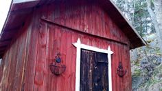 Red rustic cottage