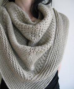 textured shawl recipe by orlane. malabrigo Worsted, Chapel Stone color