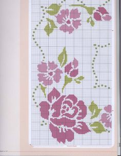 This Pin was discovered by Rem Cross Stitch Heart, Cross Stitch Borders, Cross Stitch Flowers, Cross Stitch Designs, Cross Stitch Patterns, Cross Stitch Embroidery, Hand Embroidery, Bargello, Embroidery Stitches