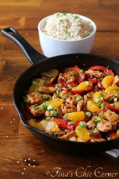 Thai Sweet Chili Chicken and Mandarin Oranges - tinaschic.com