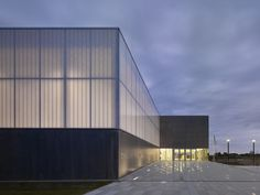 Gallery of Sports Complex in Bussy Saint-Georges / Martin Duplantier Architectes - 1 (KalWall facade system) Architecture Design, Factory Architecture, Industrial Architecture, Bussy Saint Georges, George Martin, Warehouse Design, Sports Complex, Light In, Factory Design