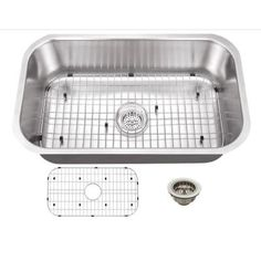 Schon All-in-One Undermount Stainless Steel 30 in. 0-Hole Single Bowl Kitchen Sink-SCSB301818 - The Home Depot