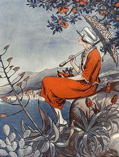 solo-vintage: Illustration by George Pavis For La Vie Parisienne Art Deco Illustration, Magazine Illustration, Vintage Illustrations, Retro Poster, Vintage Posters, Belle Epoque, Cover Art, Vintage Abbildungen, Wedding Vintage