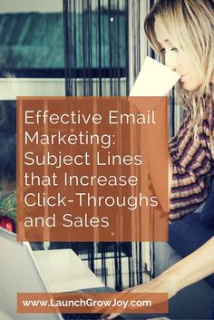 Effective Email Marketing: Subject Lines that Increase Click-Throughs and Sales Email Marketing Design, Email Marketing Strategy, Sales And Marketing, Marketing Tools, Business Marketing, Content Marketing, Internet Marketing, Affiliate Marketing, Social Media Marketing